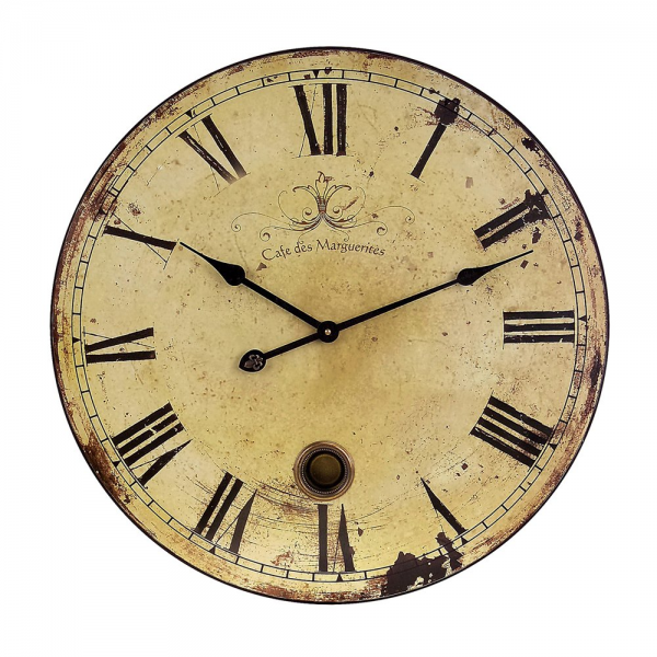 IMAX Worldwide 2511 Large Wall Clock with Pendulum | ATG Stores