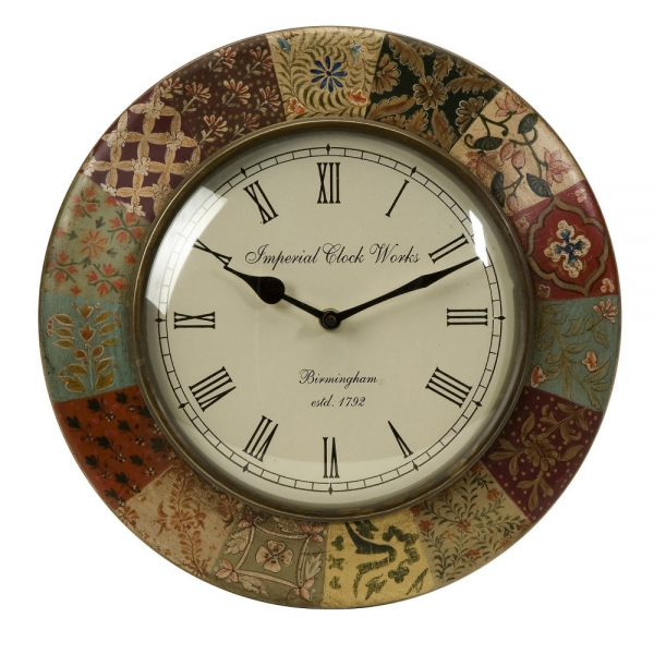 Buy IMAX Worldwide Barberry Handpainted Wall Clock on sale online