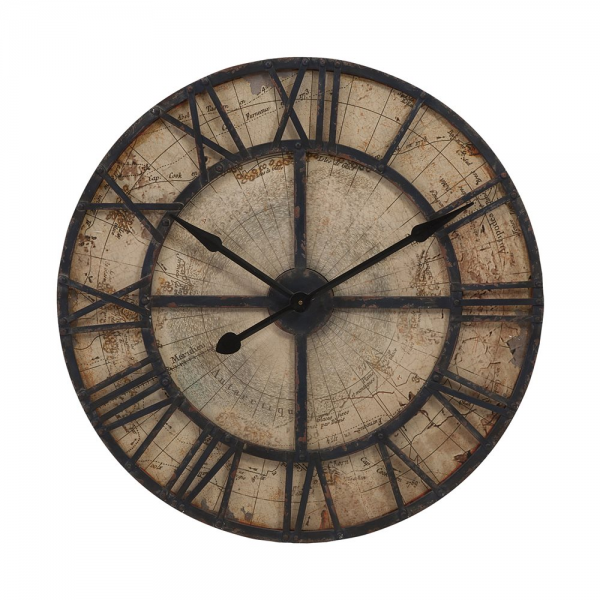 IMAX Worldwide 18308 Bryan Map Wall Clock