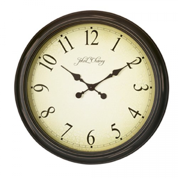 john l chaney large wall clock the john l chaney signature analog wall ...