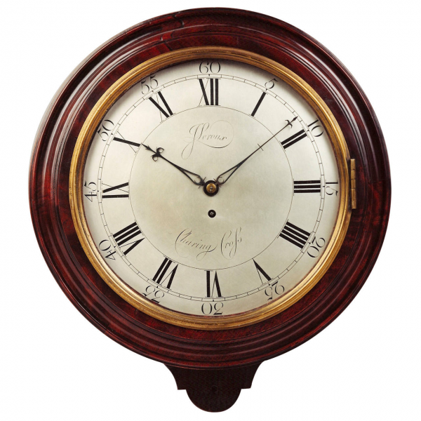 Wall Clock by John Leroux, Charing Cross, London at 1stdibs
