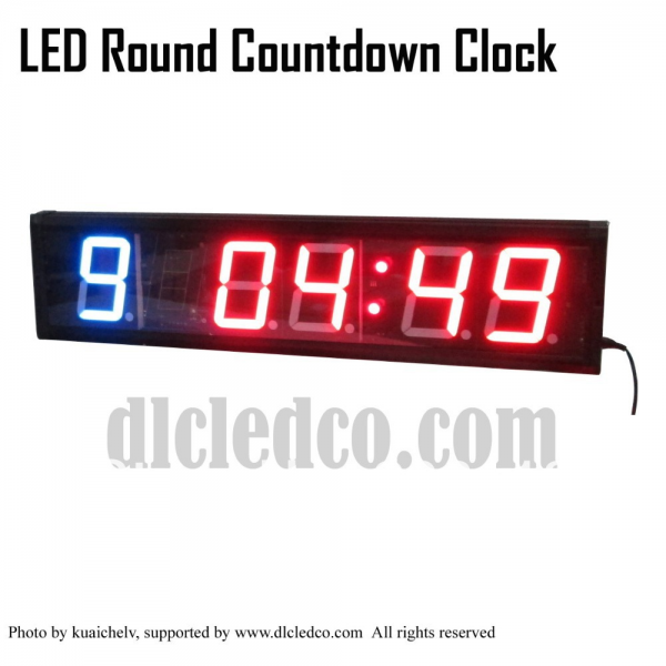 Clock LED Boxing Training Clock for Gym Room w/ Training & Rest Time ...