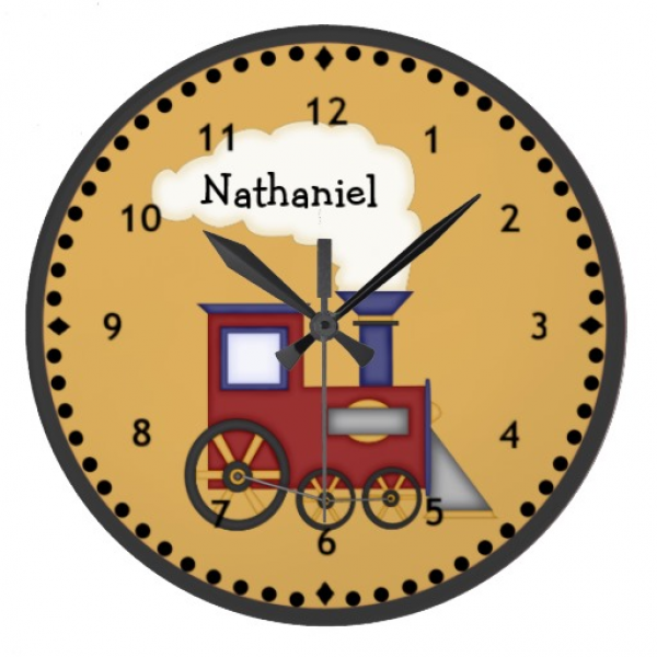 Little Train Engine Wall Clock | Zazzle