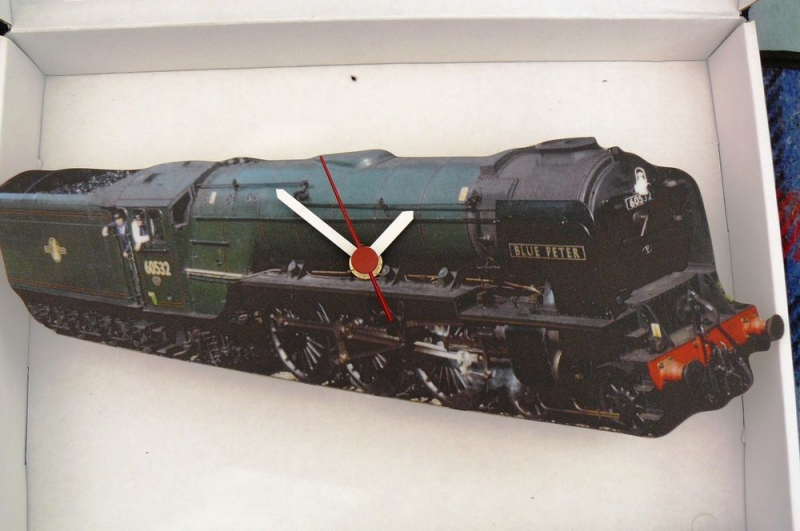 TRAIN,STEAM ENGINE,WALL HANGING CLOCK,BLUE PETER,60532. | eBay