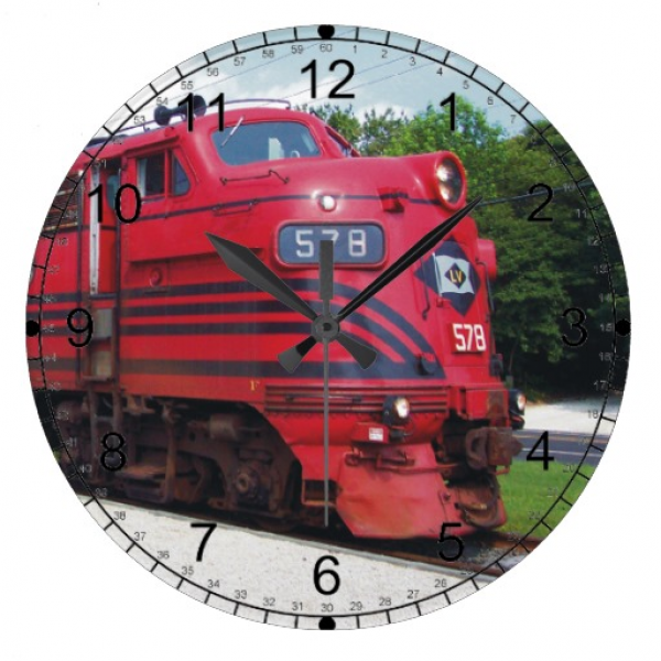 Train Clocks, Train Wall Clock Designs