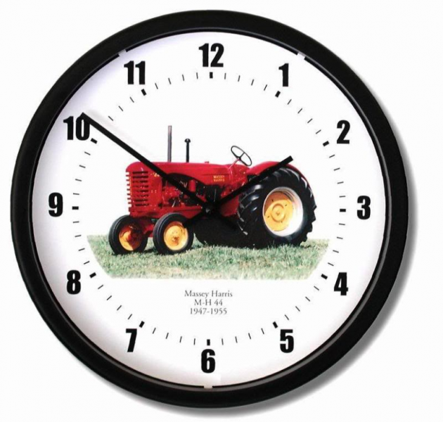 MASSEY HARRIS 1947-1955 MH-44 TRACTOR WALL CLOCK