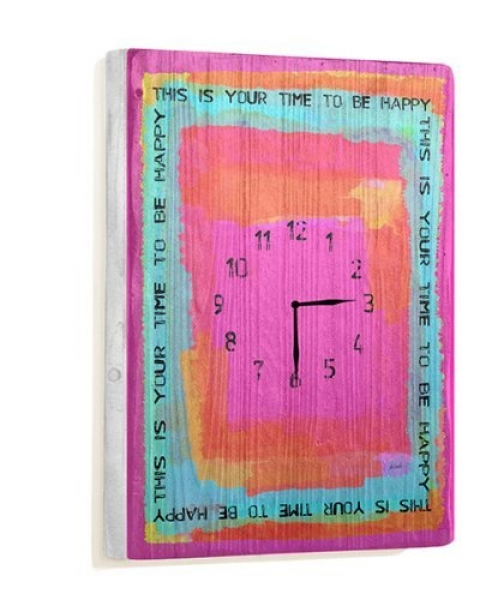 Your Time 14x20 Unique Wall Clock by Artist Lisa Weedn by ArteHouse ...