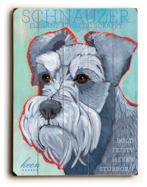 Artehouse Schnauzer Wooden Wall Art - 14W x 20H in. Brown - 0004-1987 ...