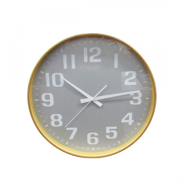 Wood Wall Clock - Silver
