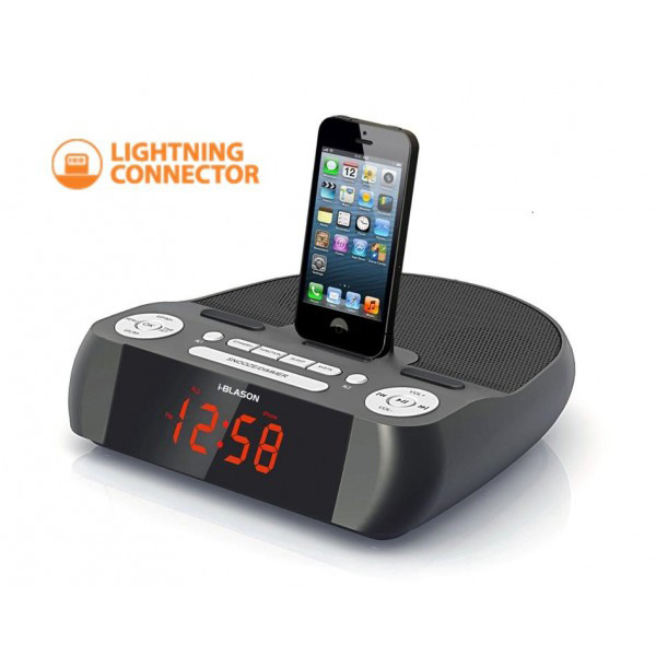 SecureShot iBlason iPhone 5 Clock Radio Docking Station Covert Camera ...