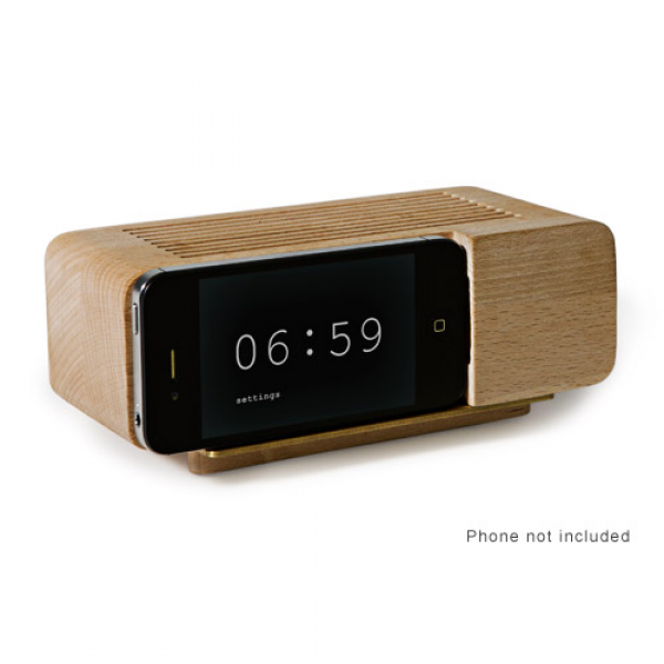 Iphone alarm dock - wood