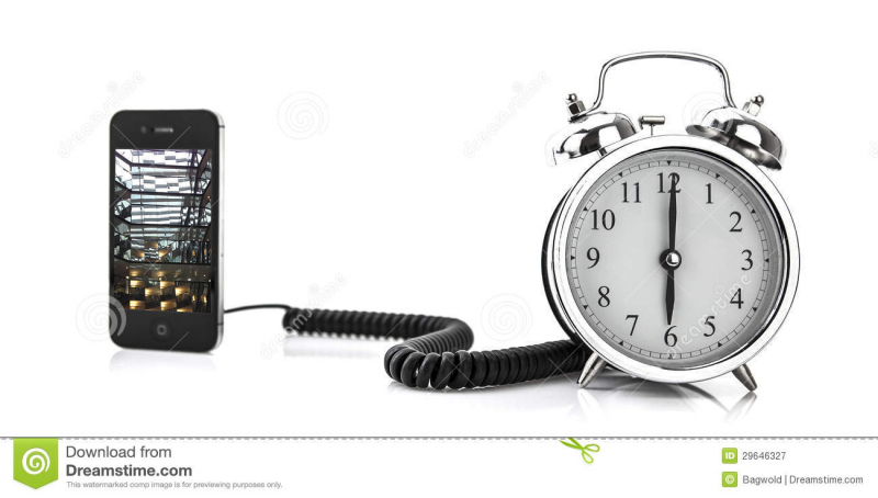Smartphone And Alarm Clock Royalty Free Stock Photography - Image ...