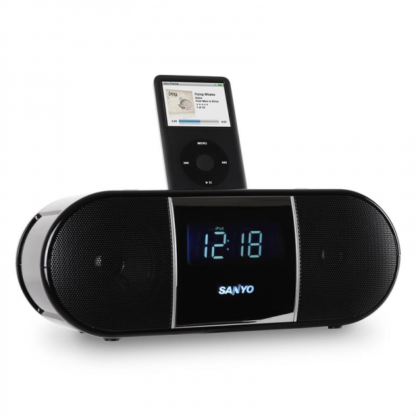 Sanyo DMP-P8 iPod Docking Station with Alarm Clock Radio: Click to ...