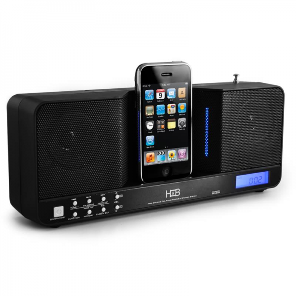 iP-20i Portable iPod Docking Station & Alarm Clock Radio: Click to ...