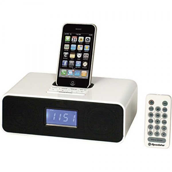 Roadstar Home iPod iPhone Docking Station with Alarm Clock and FM PLL ...