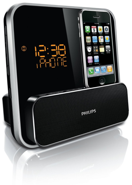 PHILIPS DC315 QUALITY IPOD IPHONE DOCK DOCKING STATION DUAL ALARM ...