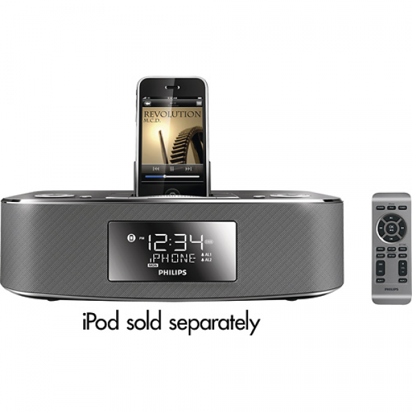 BestBuy.com: Philips Alarm Clock Radio with iPod and iPhone Dock just ...