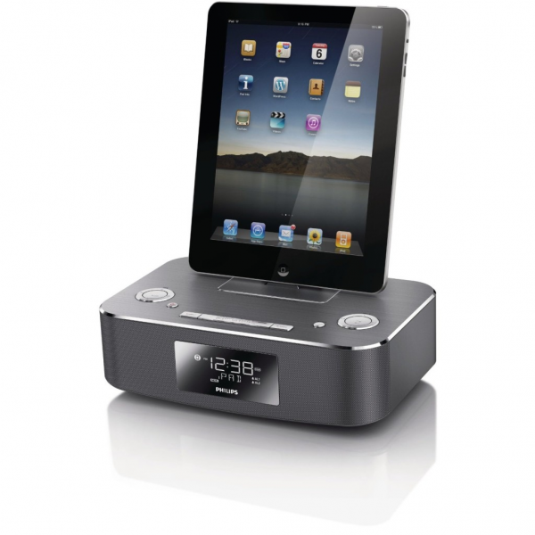 Philips Docking System for iPod/iPhone/iPad, DC291 (Aluminium)