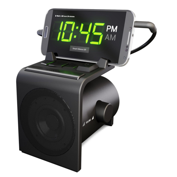 This Android-minded alarm clock and dock includes seven clock faces ...