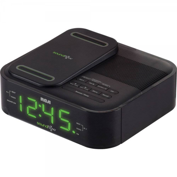 ... -WIRELESS-ANDROID-IPHONE-DOCK-ALARM-CLOCK-FM-RADIO-W-USB-CHARGING