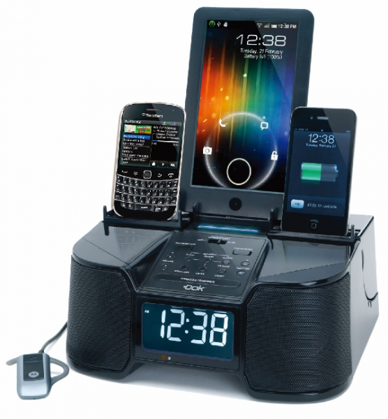 Easy Doks CR 34 : 6 dock Charger with Alarm, Clock and Radio - Review ...