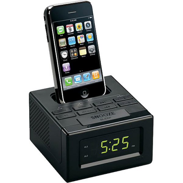 android docking station alarm clocks alarm clocks dock www top clocks com. Black Bedroom Furniture Sets. Home Design Ideas