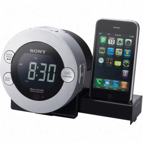 Sony Icf-c7il Alarm Clock Radio With Ipod / Iphone Dock .