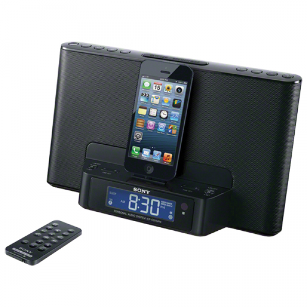 Sony iPod Clock Radio (ICFCS15IPNB) - Black