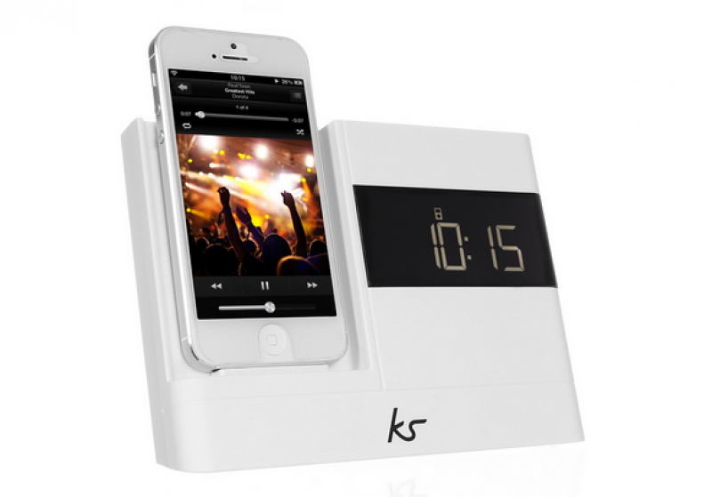 KitSound XDOCK2 Clock Radio Dock with Lightning Connector for iPhone 5 ...