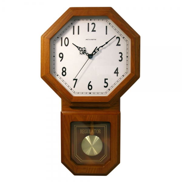 Acurite Atomic Alarm Clock on Acu Rite Wood Wall Clock With Pendulum