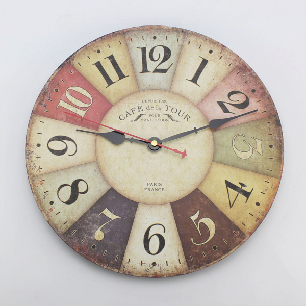 ... France Paris French Country Tuscan Style Wooden Wall Clock 12 | eBay