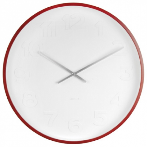 Karlsson Mr White Wood XL - Wall Clock | hardtofind.