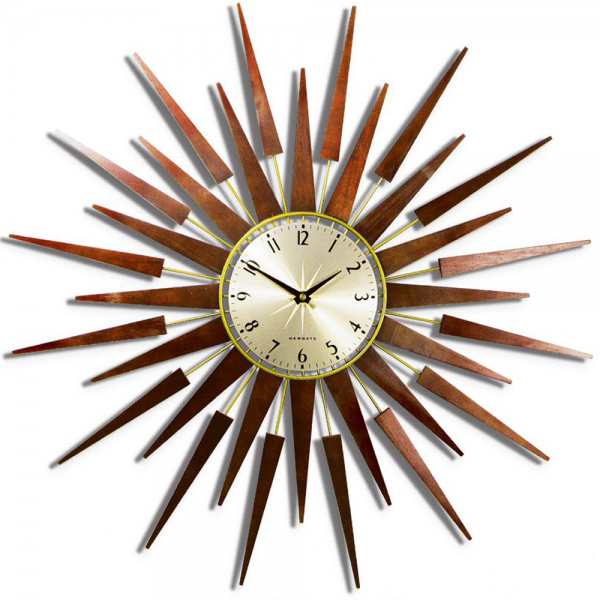 You are here: Home > Pluto Starburst Gold Wall Clock 65cm