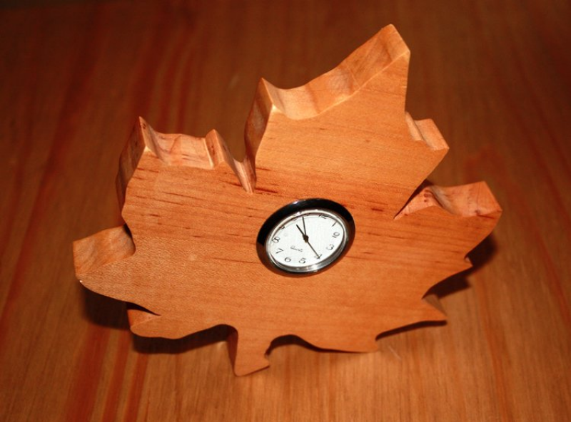 Maple Leaf Clocks - by AaronSKuehn @ LumberJocks.com ~ woodworking ...