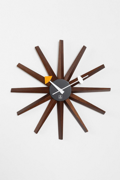Starburst Wall Clock Classic vintage look