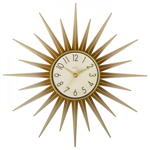 ... & Home // Clocks // Acctim Stella Starburst Gold Wall Clock 21760