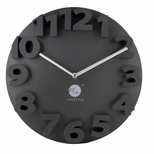 Rewind 3D Wall Clock(Carbon) | Furniture & Appliances | FortyTwo