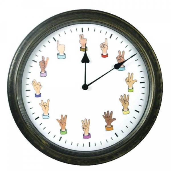 Sign Language Wall Clock at Harris Communications | Deaf Network of ...