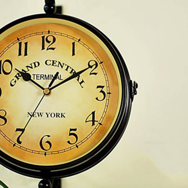Home Specials Vintage Style Grand Central Wall Clock