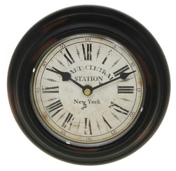 ... Brown Metal Grand Central Station New York Round Wall Clock | eBay