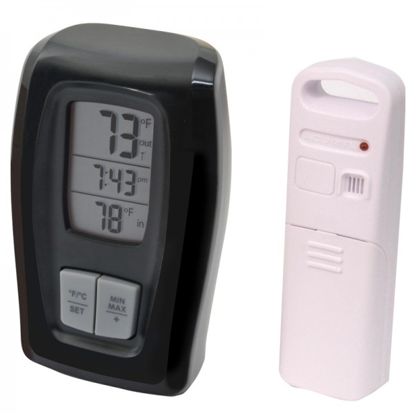 AcuRite Digital Indoor / Outdoor Thermometer with Clock 00415 / 00416 ...