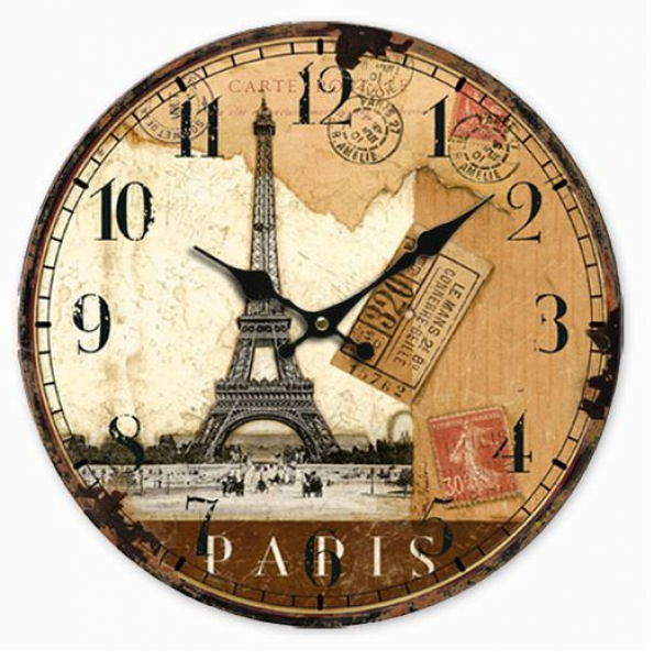 New 2015 Hot Fashion Wall Clock Modern Design Rustic Digital Eiffel ...