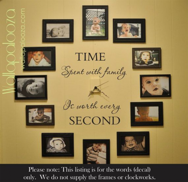 Time spent with family is worth every second wall decal - family wall ...