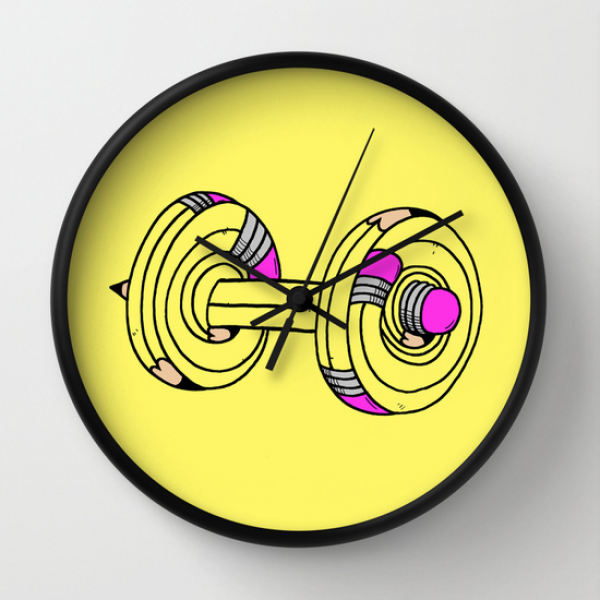 MY.DAILY.WORKOUT Wall Clock by Anwar Rafiee | Society6