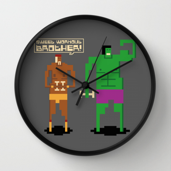 Sweet Workout Wall Clock