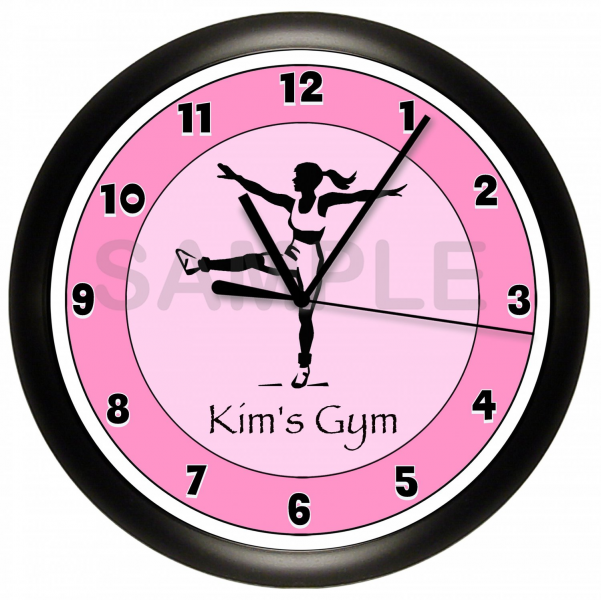Personalized Aerobics Wall Clock Pilates Workout Gym