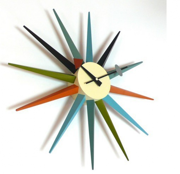 clock replica Vitra Nelson Sunburst Clock Multicolor designer clock ...