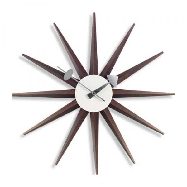 George Nelson Sunburst Clock Walnut,Vitra Nelson Sunburst Clocks ...