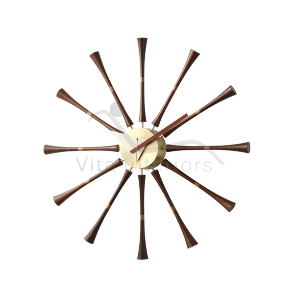 George Nelson Style Spindle Wall Clock