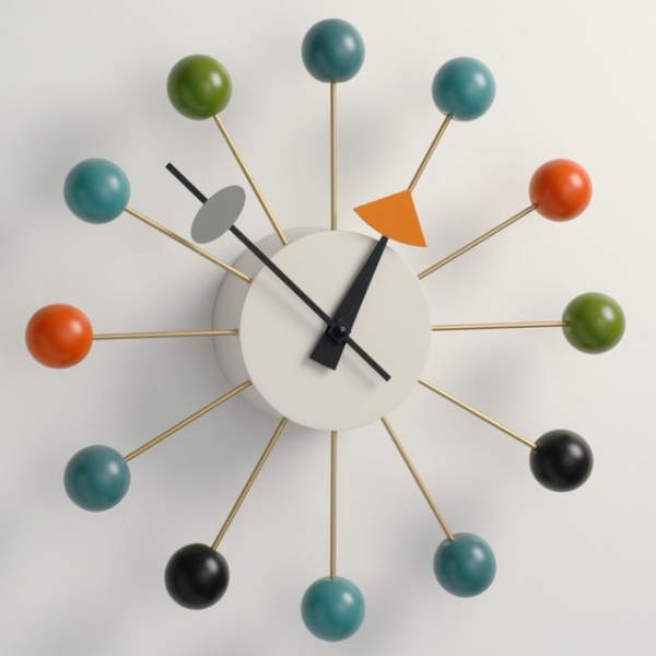 George Nelson Ball Clock Multi-Color by Vitra - Midcentury - Clocks ...